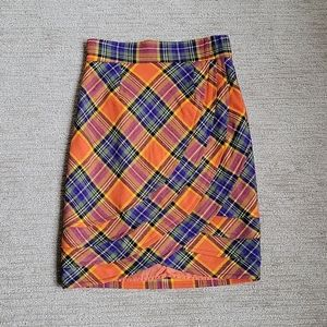Anthro Plenty By Tracy Reese Plaid Tulip Size 8